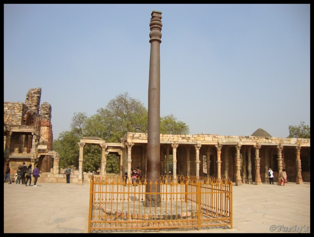Image result for Iron pillar of the Qutub Complex