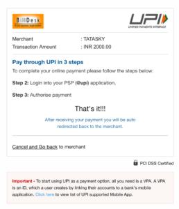 Design Dissonance TataSky UPI Website
