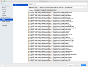 """Solving """"Could not determine Java version from '9.0.1'"""" with Gradle and IntelliJ on MacOSX"""