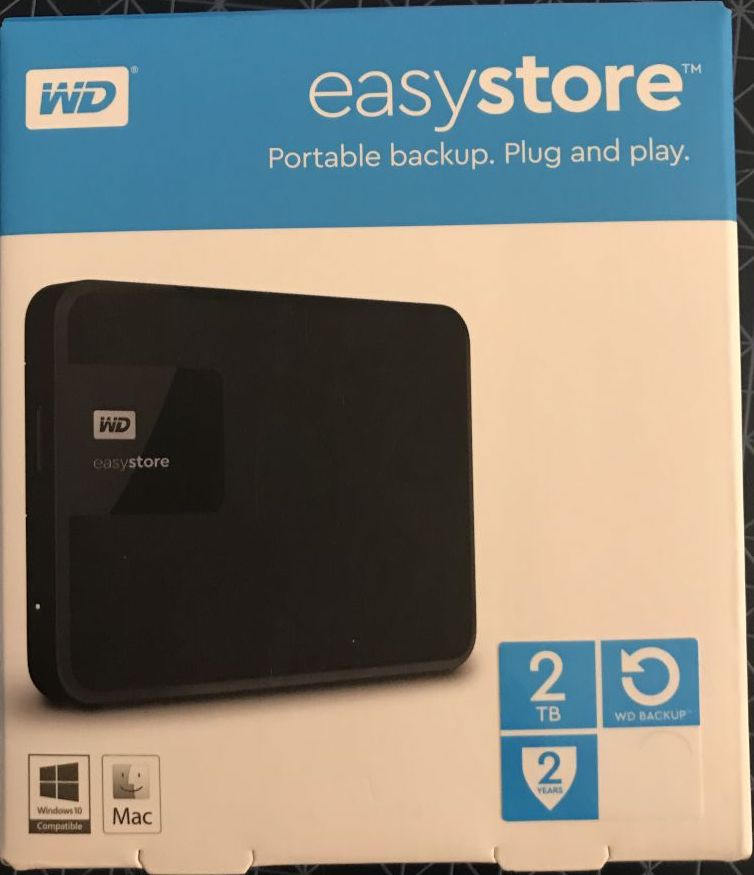 WD EasyStore NTFS Mac OSX