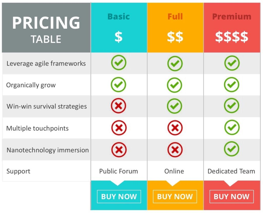 Go To Market GTM Strategy Pricing Sample