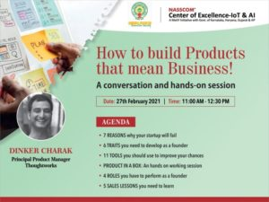 How to Build Products that mean Business! – A Product Management Conversation – NASSCOM Vizag